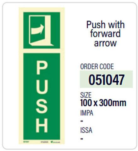 Push with forward arrow