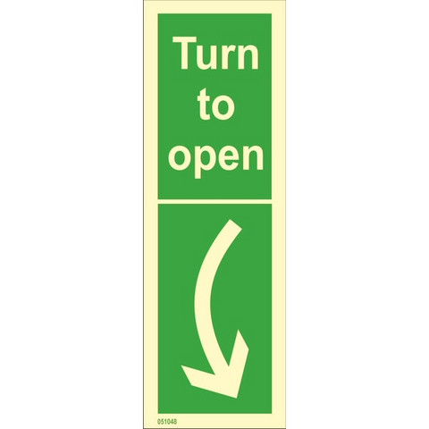 Turn to open, right