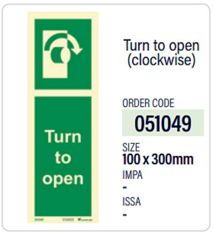 Turn to open clockwise