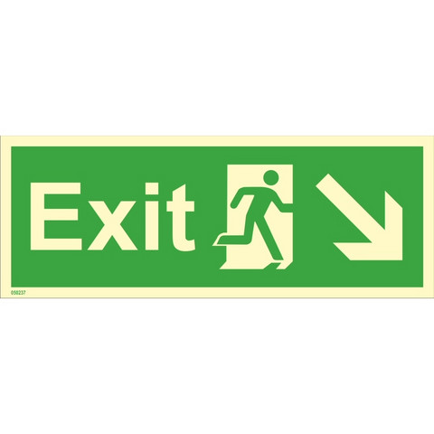 Exit, down right