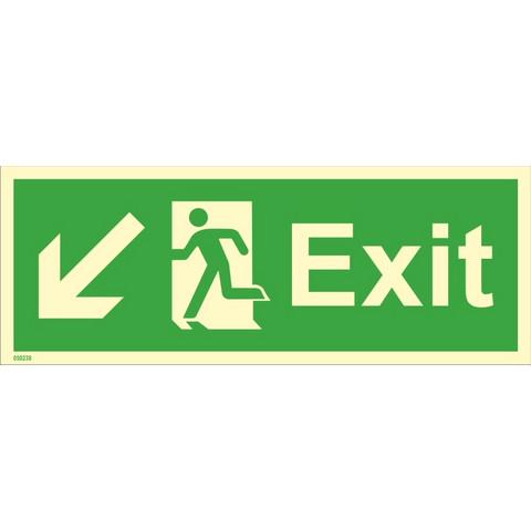Exit, down left