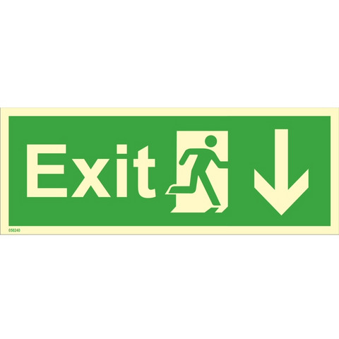 Exit, down right side
