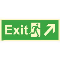 Exit, up right