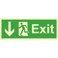 Exit, down left side