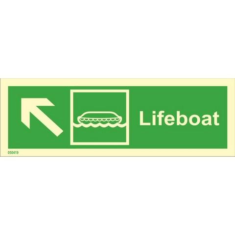 Pelastusvene, ylävasen