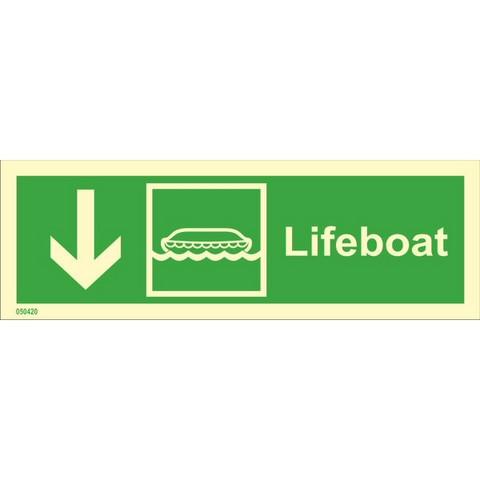 Pelastusvene, alas vasen