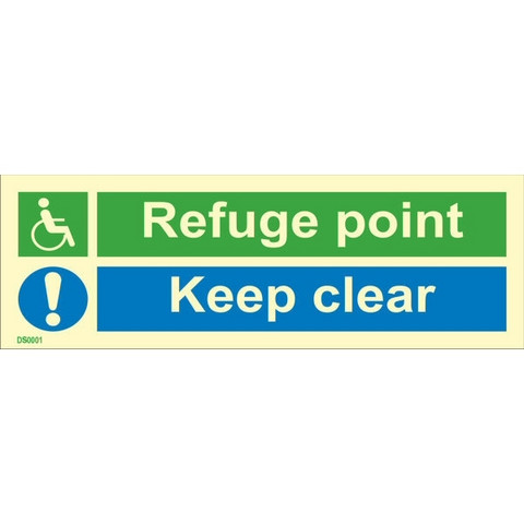 Refuge point, keep clear