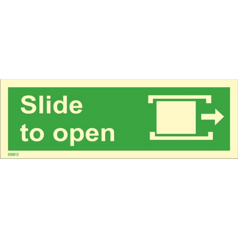 Slide to open, right