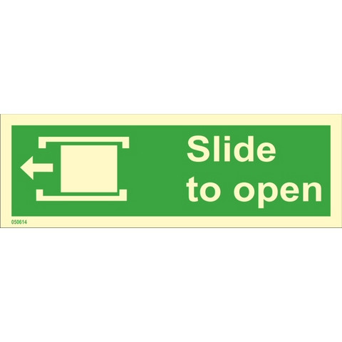 Slide to open, left