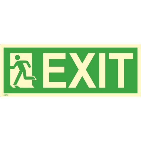 Exit, left