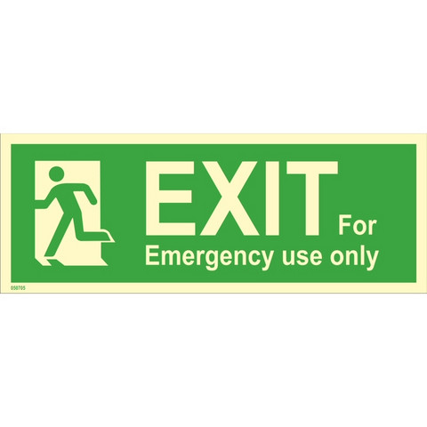Exit, for emergency use only, left