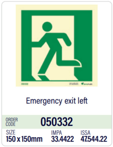 Emergency exit left