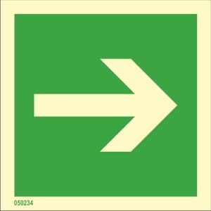 Direction indicator straight
