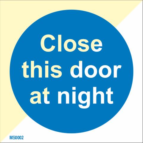 Sulje tämä ovi yöllä