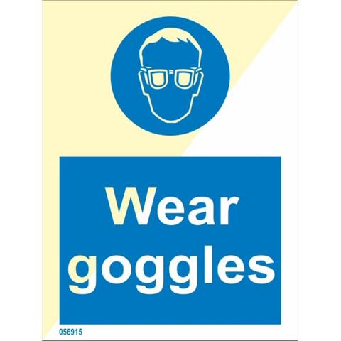 Wear goggles