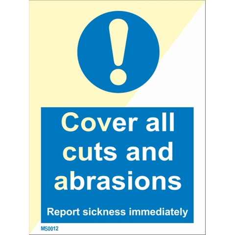Cover all cuts and abrasions