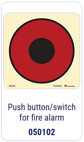Push-button/switch for fire alarm