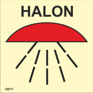 Space protected by halon