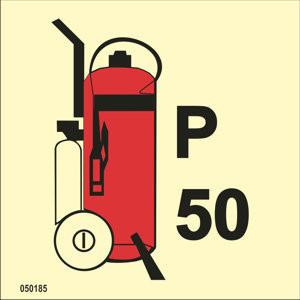 Powder fire extinguisher 50kg