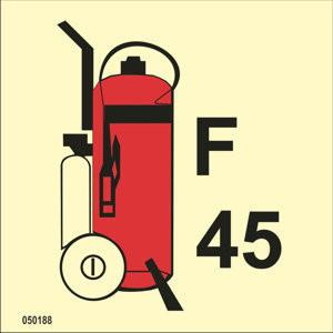 Pyörillä varustettu vaahtosammutin 45kg