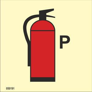 Powder fire extinguisher