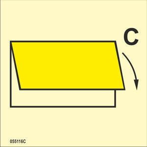 Tuuletuksen sulkulaite sisään tai ulos C