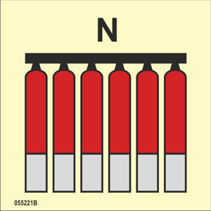 Fixed fire-extinguishing battery Nitrogen