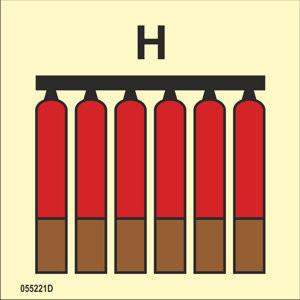 Kiinteä kaasu H palosammuttimien ryhmä