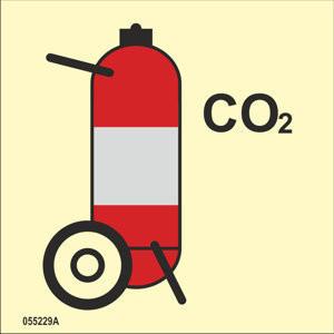 Pyörillä varustettu CO2 sammutin