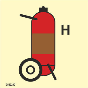 Wheeled fire extinguisher Gas
