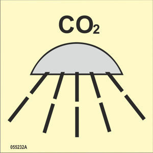 Space or group of spaces protected by fire-extinguishing system CO2