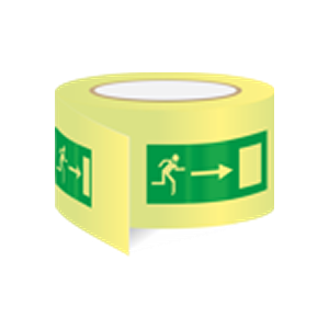 Wayfinding tape - for safe routes to exits direction right