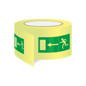 Wayfinding tape - for safe routes to exits direction left