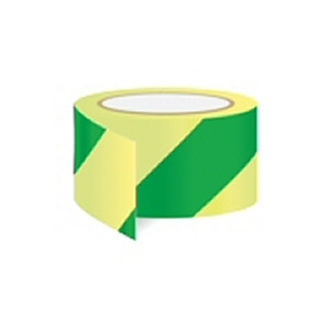Green diagonal tape - for indicating safe areas