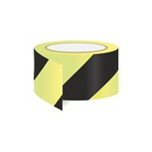 Black diagonal tape - for marking hazard areas and obstacles