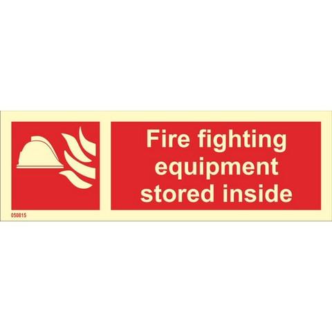 Palontorjuntavälineiden sisävarasto (tekstillä, vaaka)