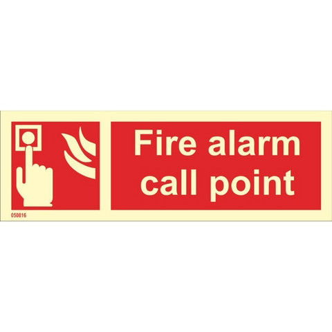 Fire Alarm Call Point (with text horizontal)