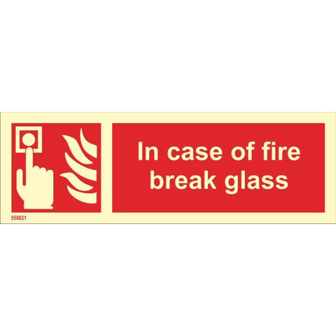 In Case Of Fire Break Glass (with text horizontal)