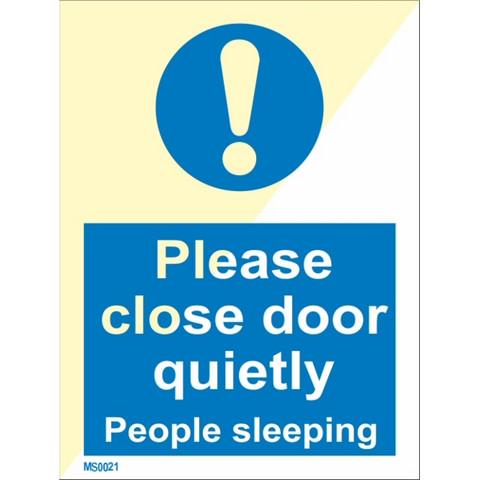 Please close door quietly
