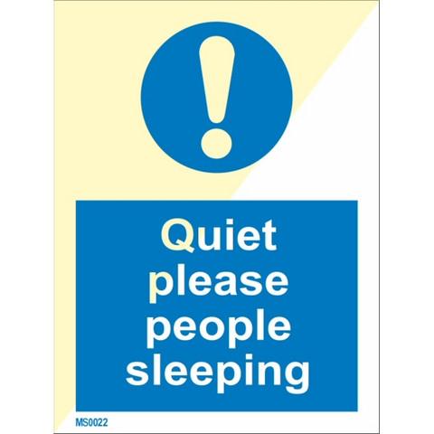 Hiljaa kiitos, ihmiset nukkuvat