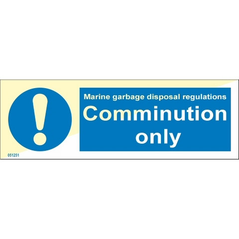 Comminution only