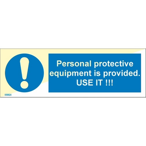 Presonal protective equipment is provided USE IT