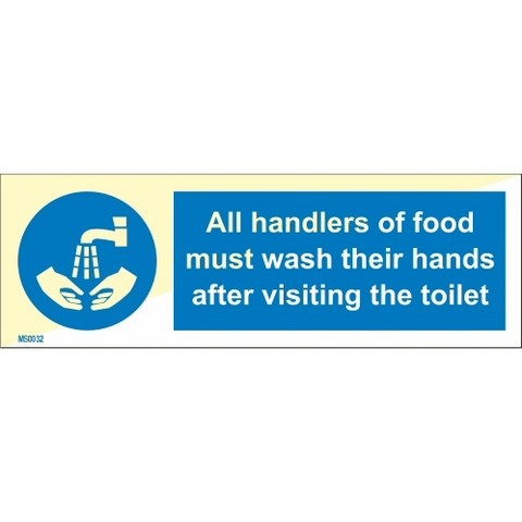 All handlers of food must wash their hands after visiting the toiled
