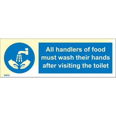 Kaikkien elintarvikkeita käsittelevien on pestävä kätensä wc käynnin jälkeen