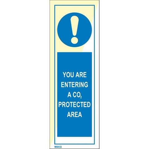 You are entering a CO2 protected area
