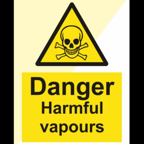 Danger Harmful Vapours