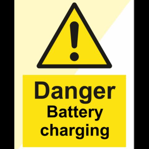 Danger battery charging