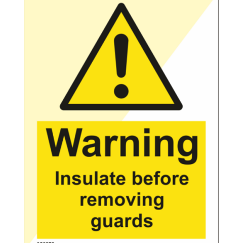 Warning Insulate before removing guards
