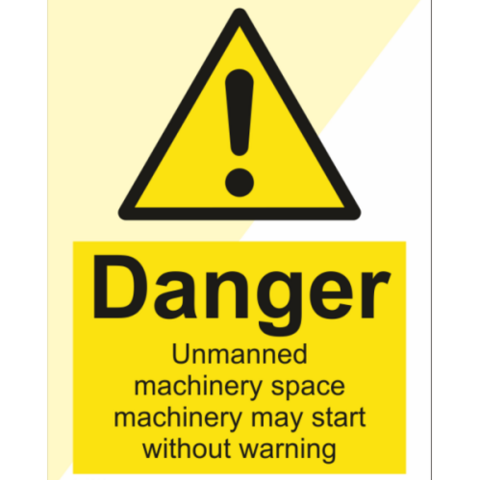 Danger Unmanned Machinery Space Machinery May Start
