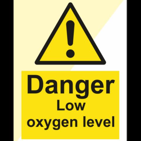 Danger Low oxygen level